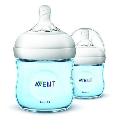 Natural Bottle (BLUE) 4OZ/125ML - Natural 2.0 (Twin Pack)