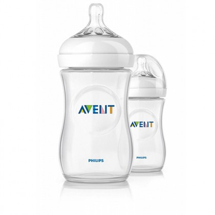 Natural Bottle 9OZ/260ML - Natural 2.0  (Twin Pack)