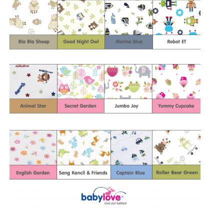 BABY LOVE Baby Organic Latex Bean Pillow - Random Colour Design