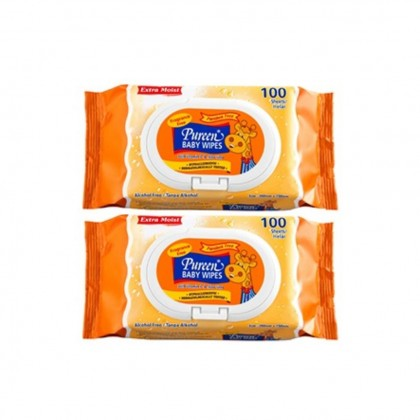 PUREEN BABY WIPES (FRAGRANCE FREE) 2 x 100'S
