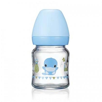 Kuku Glass Wide-Neck Feeding Bottle -120ML