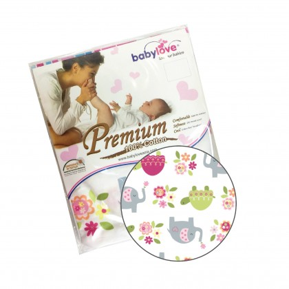 "BABY LOVE Bolstercase (L) 21""x7"" - Random Colour Design"